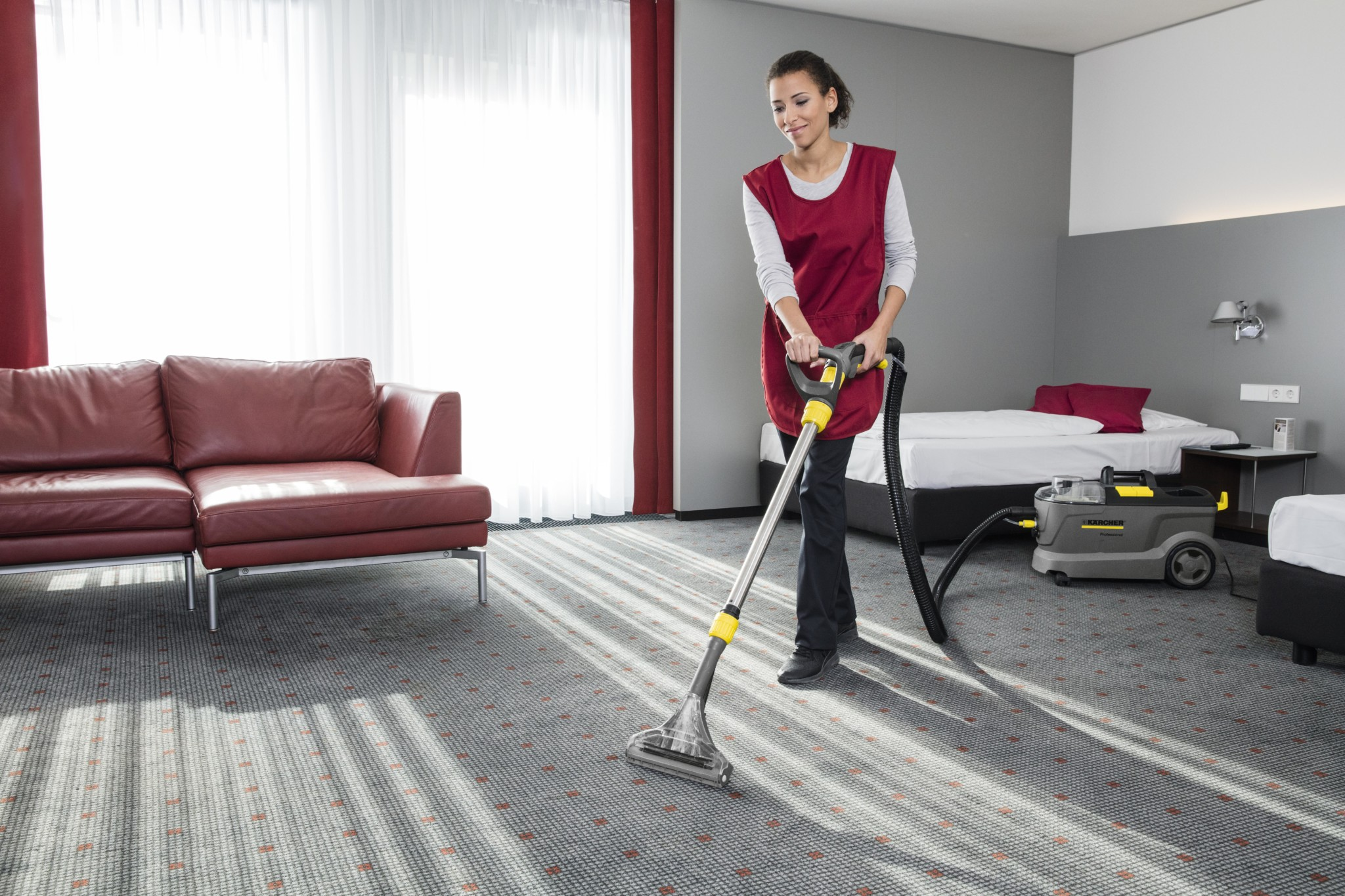 Comfortable carpet cleaning with Kärcher