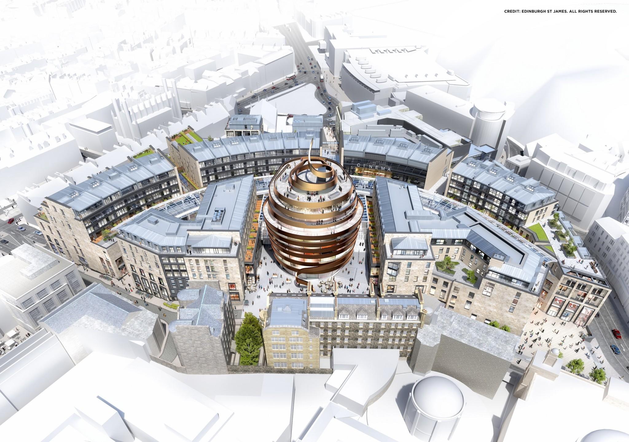 Edinburgh St James aerial shot (press)