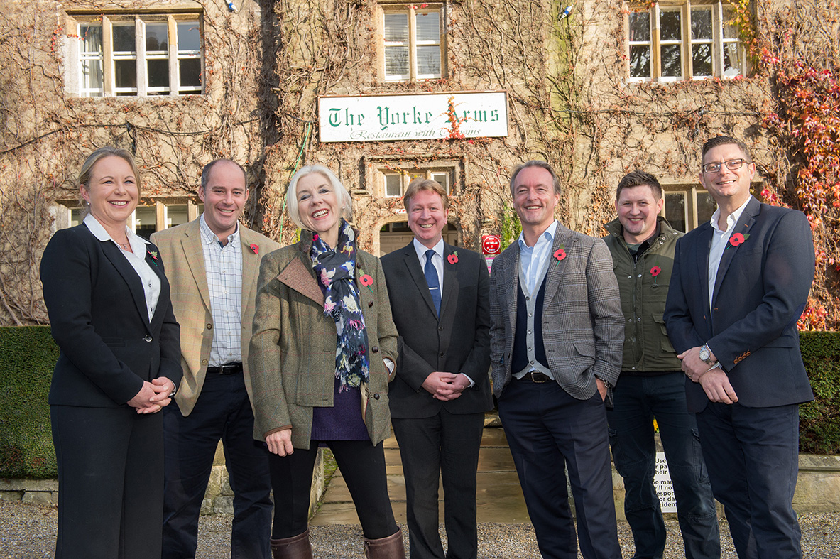 Caption 2 Serial entrepreneur Jonathan Turner acquires The Yorke Arms from Frances Atkins