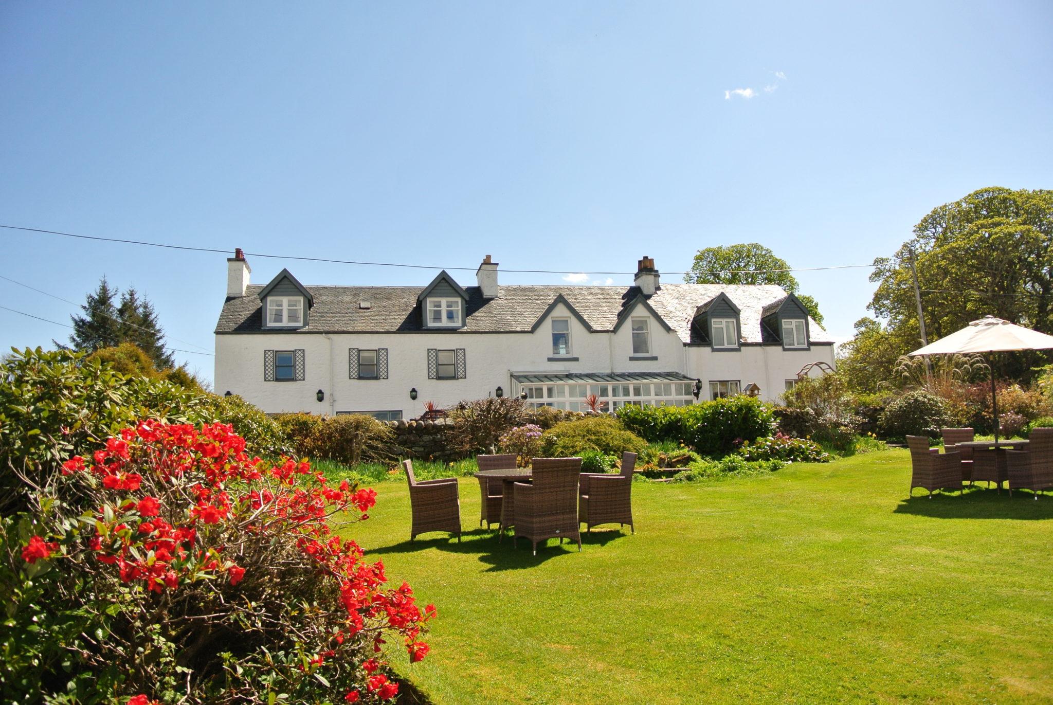 Airds, hotel exterior from garden