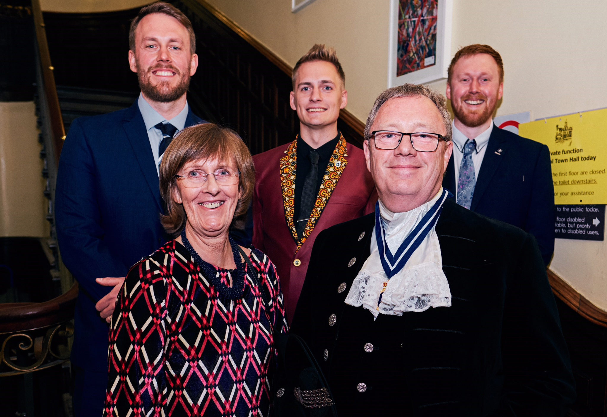 Simon Berry appointed new High Sheriff of Cumbria – front row Simon and his wife Diana back row (ltr) Rob, Elliot and Ben