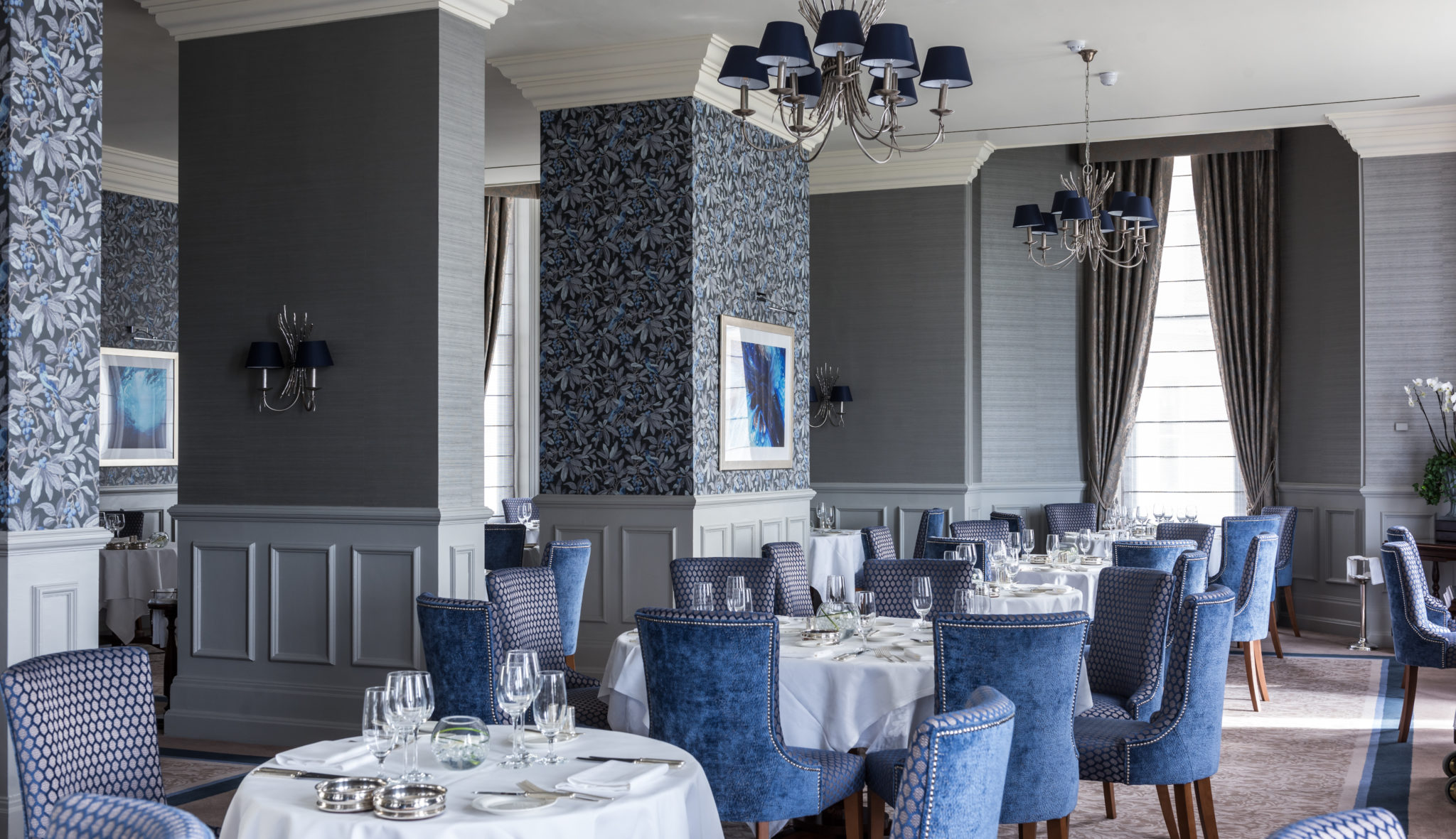The Grand Hotel, Eastbourne, Elite Hotels, The Mirabelle, restaurant, staff, interiors,   2018