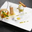 Minestrone_de_mangue_à_la_coriandre,_lait_de_coco_et_ananas_Michelin_star_restaurant