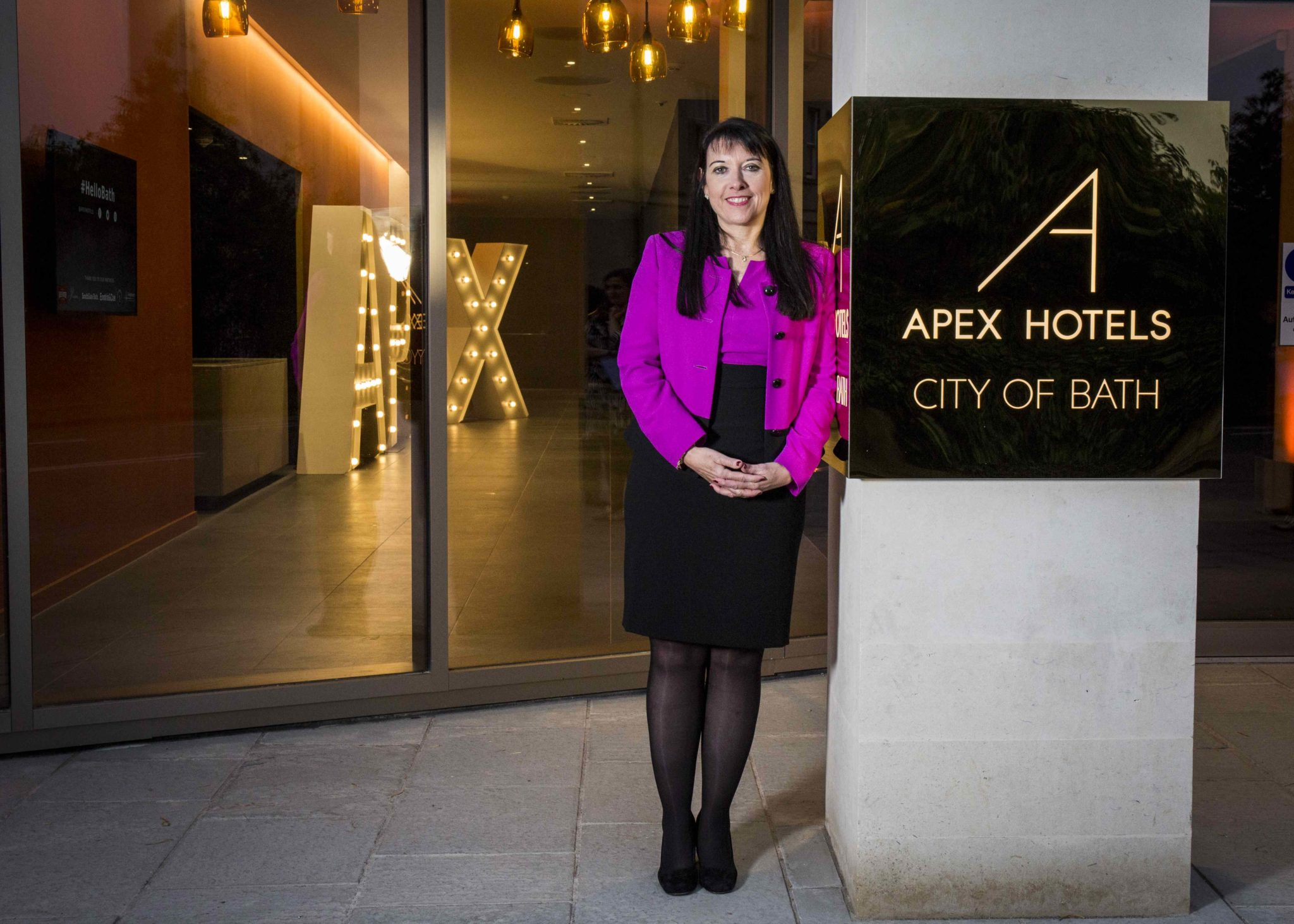 Angela Vickers CEO – pictured at Apex City of Bath