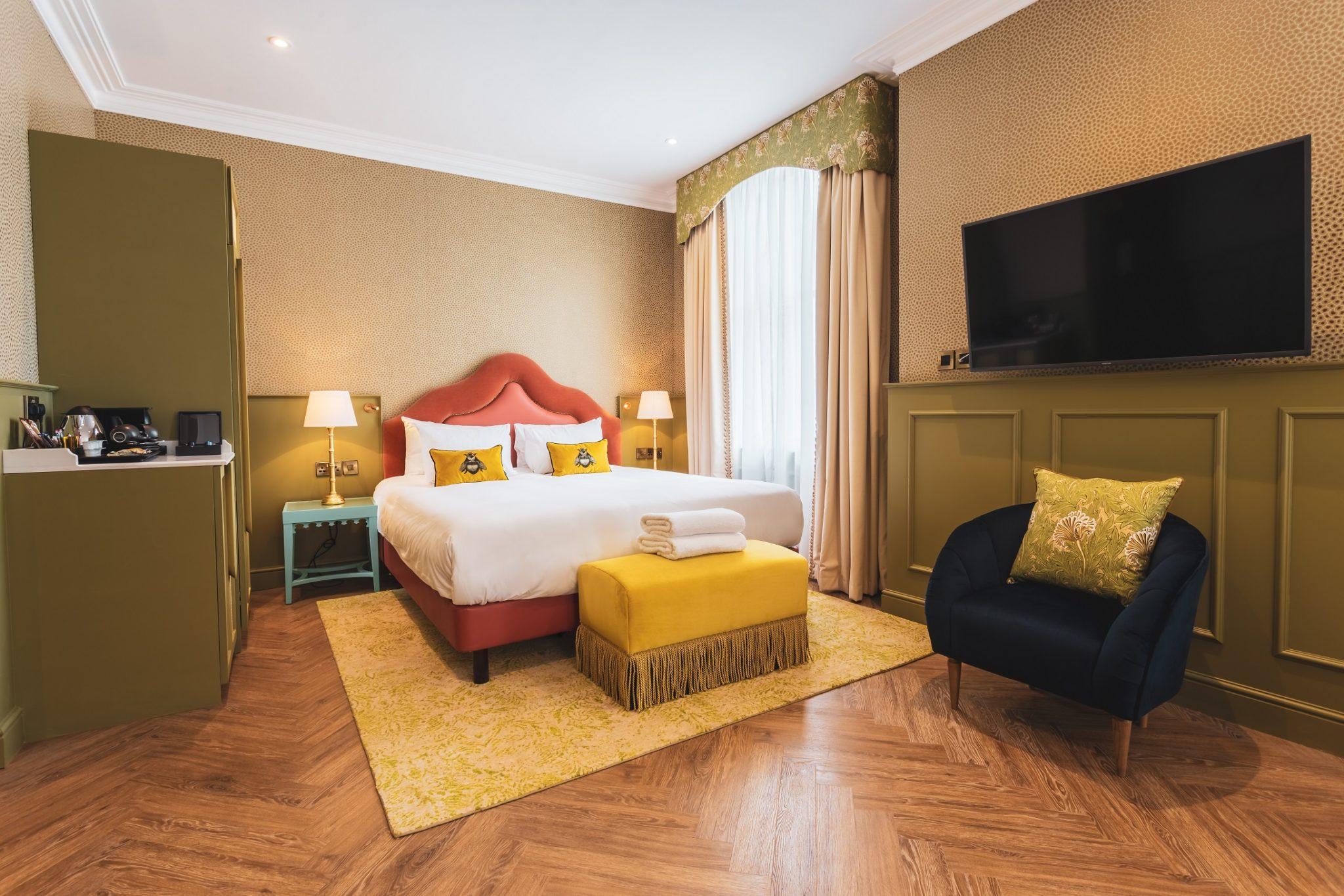 A new-look bedroom in York's Elmbank Hotel