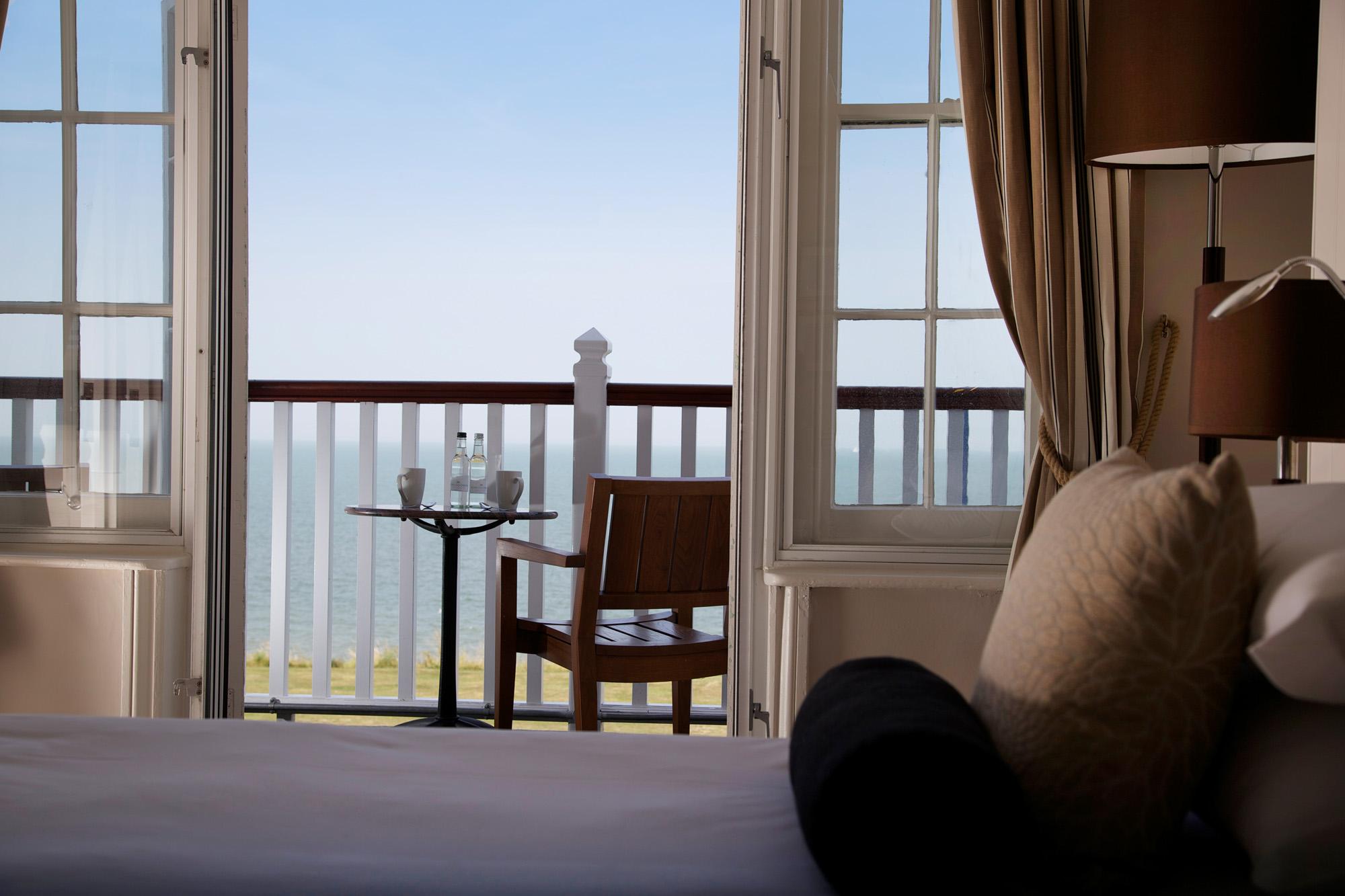 Marine Hotel, Tankerton (Whitstable)-8 Superior Double Sea View Balcony (2)