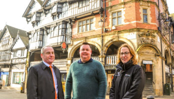 Nigel Driver, Commercial Manager of the Grosvenor Estate, Paul Wildes, CEO of WILDES Group and Annabel Farbon, Agent of the Grosvenor Estate.