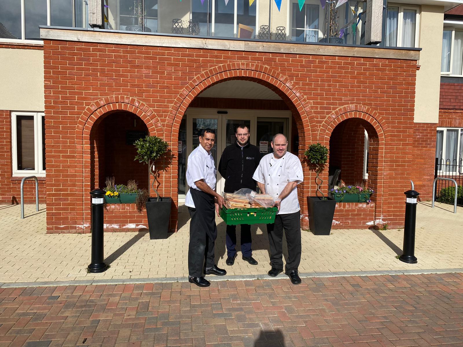 Woodland Park Hotel Delivering scones to hospice