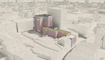 Week Street 3D Aerial View facing north west 02 B_Dexter Moren Associates