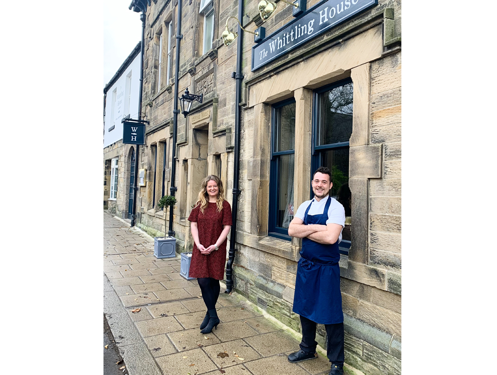 General Manager Lottie Haylock and Head Chef Dan Duggan at The Whittling House in Alnmouth