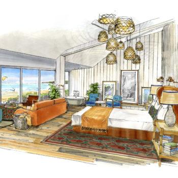 Watergate Bay Hotel Beach loft suite impression