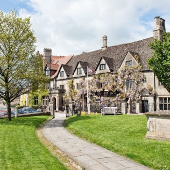 Old Bell hotel in Malmesbury, Wiltshire, UK. The oldest continuously operating Hotel in England
