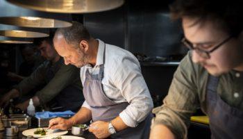 Simon Rogan & Paul Burgalieres in the L'Enclume Kitchen