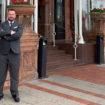 Martin Outside Hotel
