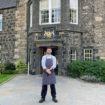 Alan Clarke at front door of MH